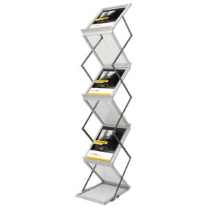 Broschüren und Displayständer, Messesysteme Borch design